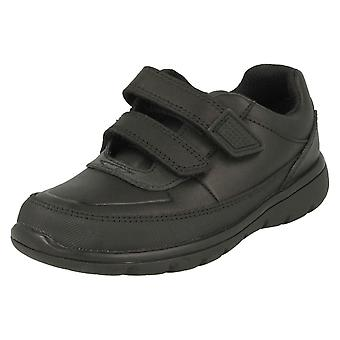 Boys Clarks Hook & Loop School Shoes Venture Walk