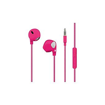 PURO Twist Stereo Headphone, cable pattern, pink