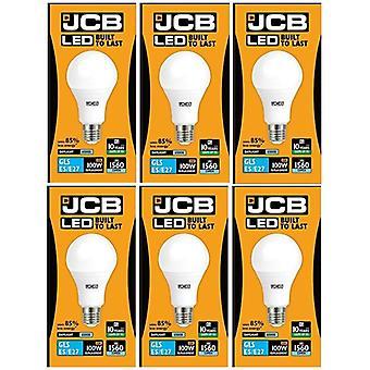 6 X JCB LED 15 W zakrętkę GLS letniego 6500K żarówka 100W wymiany ES E27 LED [Klasa energetyczna A +]