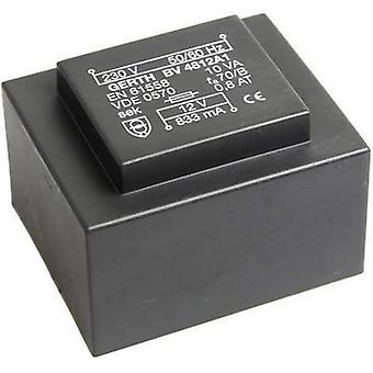 PCB mount transformer 1 x 230 V 2 x 7.50 V AC 10 VA 666 mA