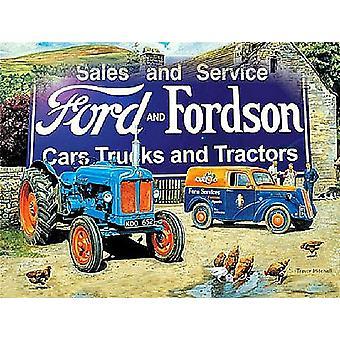 Ford And Fordson Farmyard Scene Fridge Magnet