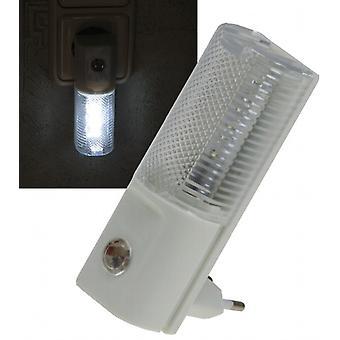 Lampka nocna LED z czujnik dualny 230 v, z białymi diodami LED, tylko 1W