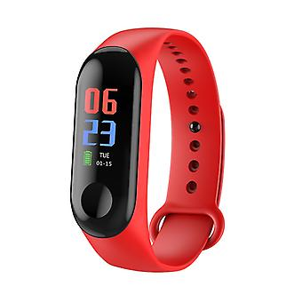 M3 Water Resistant Activity Bracelet With Color Display-Red
