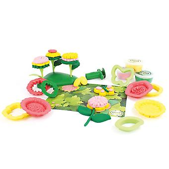 Grüne Spielzeug 21 Stück Flower Maker Teig legen Sie Doh Moulding Play Set BPA frei Eco