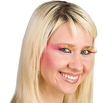 Pink yellow star Lashes