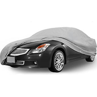 SUPERIOR TRUE 100% WATERPROOF CAR COVER COVERS MID SIZE SEDAN - ALL SEASON PROTECTION - GRAY COLOR - 3x PILLOW SOFT INNER COTTON LAYER (FITS LENGTH 210