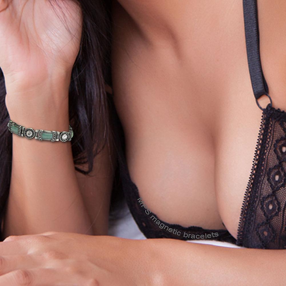 MPS® KARINN Jade Gemstones Magnetic Bracelet + Free Resizing Tool