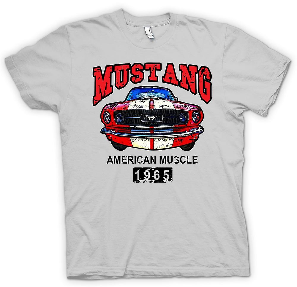 Mens T-shirt - Mustang 65 Muscle - Car - Classic US Car
