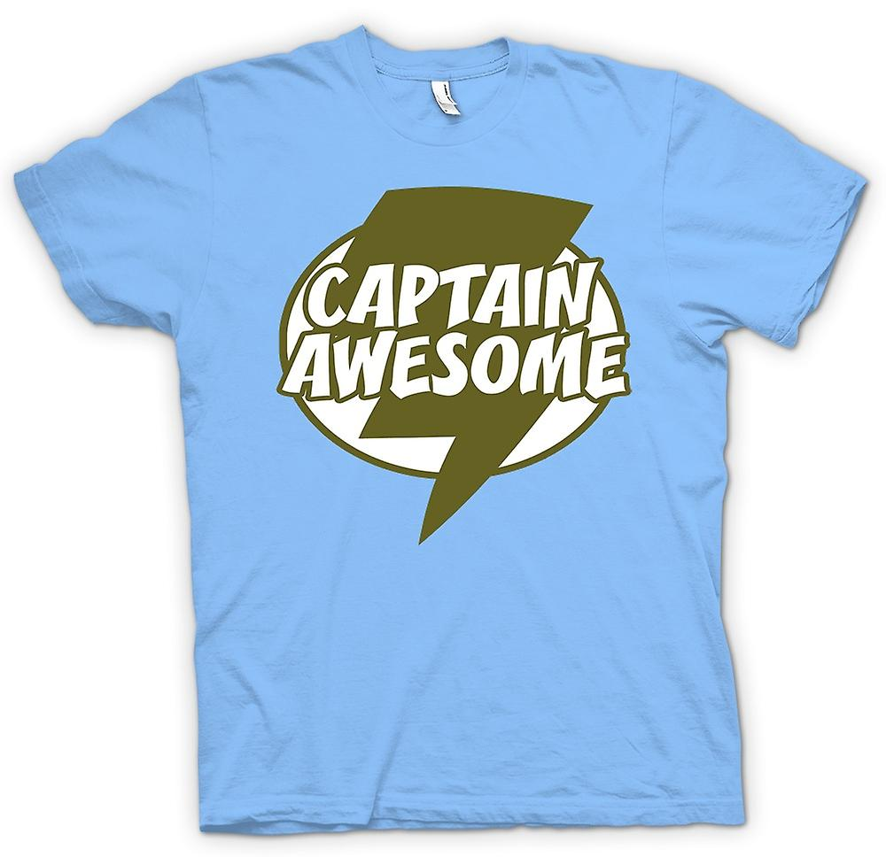 Mens t-skjorte - kaptein Awesome - Funny