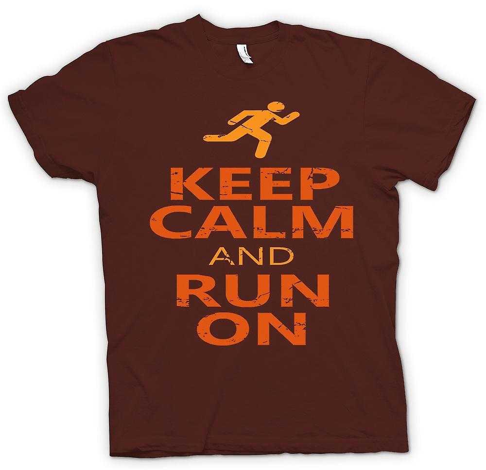 Heren T-shirt-Keep Calm And Run op - Cool Running