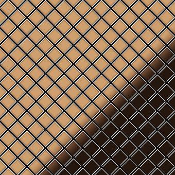 Metal mosaic Titanium ALLOY Diamond-Ti-AM