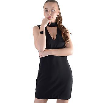 Lovemystyle svart steget klänning med Choker detalj - prov