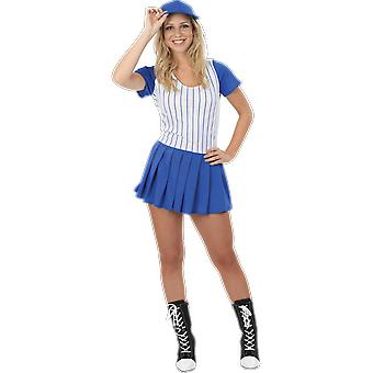 Orion Costumes Womens Blue Baseball Team Sports Uniform Fancy Dress Costume