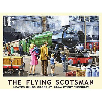 The Flying Scotsman - store Metal skilt 400 mm x 300 mm (og)