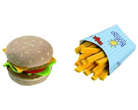 HABA - Play Food Hamburger e patatine fritte (tessuto) 1475