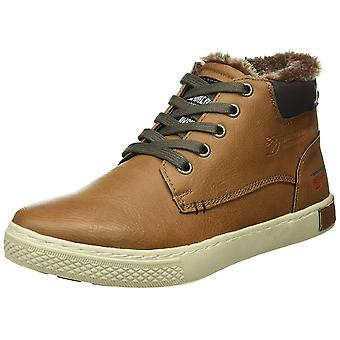 Tom Tailor shoes lined men's high top sneaker boots Brown