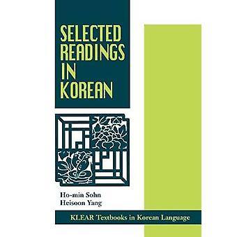 Selected Readings in Korean by Sohn & HoMin