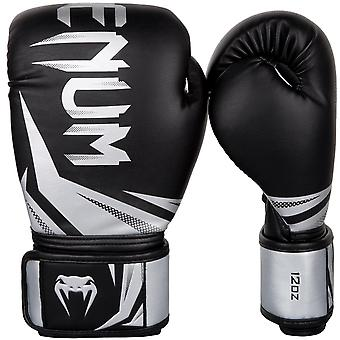 Venum Challenger 3.0 Hook & Loop Boxing Training Gloves - Black/Silver