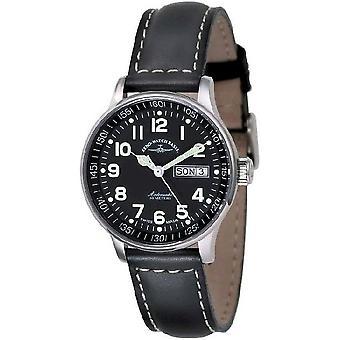 Zeno-watch montre taille moyenne noir 336DD-a1