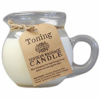 Bambu sojabönor Toning blandning Massage Candle