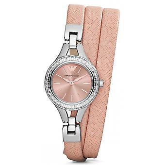 Orologio classico da donna Emporio Armani Ar7364 Peach Leather al quarzo