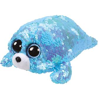 Ty - Beanie Boos Flippables Waves The Seal Sequins Soft Toy