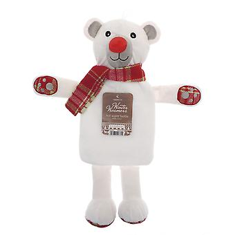 Kids Winter Warmer Plush Hot Water Bottle: Polar Bear