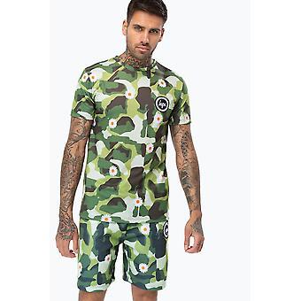 Hype Green Daisy Camo Men's T-Shirt