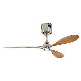 Ceiling fan Helico Paddel Chrome / Beech without control