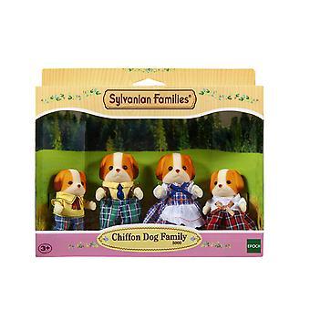 Les familles sylvanian famille de chien en mousseline de soie