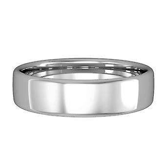 Jewelco London Palladium - 5mm Essential Bombe Court-Shaped Band Commitment / Wedding Ring