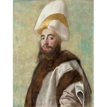 Portrait of a Grand Vizir,Jean-Etienne Liotard,50x38cm