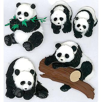 Jolee's Boutique Dimensional Stickers Pandas E5020051