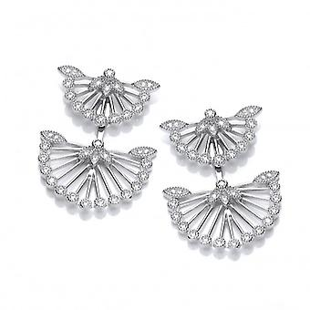 Cavendish French Oriental Fan Jacket Earrings