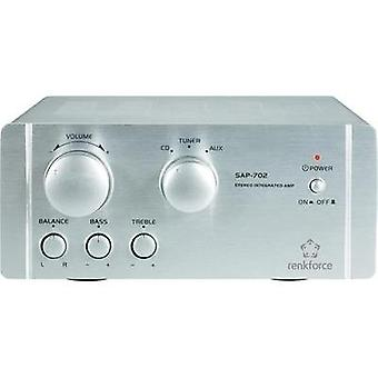 Stereo amplifier Renkforce SAP-702 2x 20 WAluminium