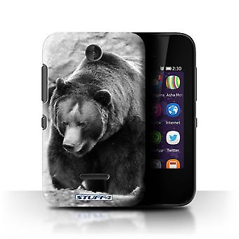 STUFF4 Case/Cover for Nokia Asha 230/Bear/Mono Zoo Animals