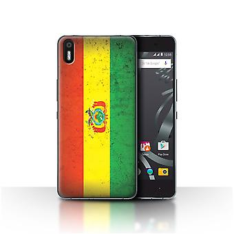 STUFF4 Case/Cover for BQ Aquaris X5/Bolivia/Bolivian/Americas Flag