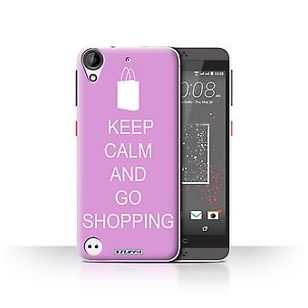 STUFF4 Case/Cover for HTC Desire 630/Go Shopping/Pink/Keep Calm