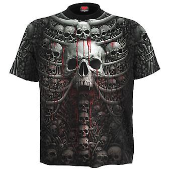 Spiral Direct Gothic DEATH RIBS - Allover T-Shirt Black|Skulls|UnDead|Horror|Blood