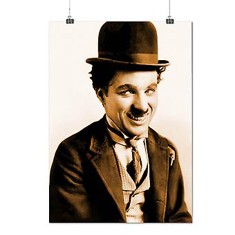 Matte or Glossy Poster with Celebrity Chaplin Funny Star Actor | Wellcoda | *q1435