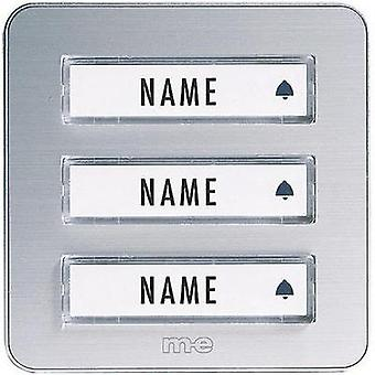 Bell panel with nameplate 3x m-e modern-electronics KTA-3 A/S Silver 12 V/1 A