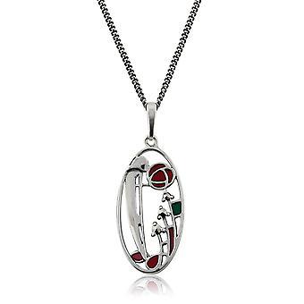 Gemondo Sterling Silver 5.5pt Marcasite Rennie Mackintosh Style 45cm Necklace