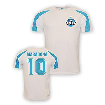 Diego Maradona Napoli Sports Training Jersey (white) - Kids