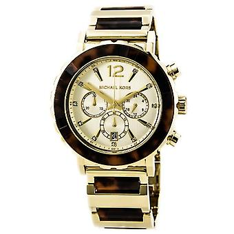 Michael Kors Women's MK5790 Chronograph Tortoise Gold Tone Watch