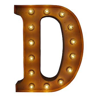 Large Vintage Letter Lights - D (60cm x 10cm)