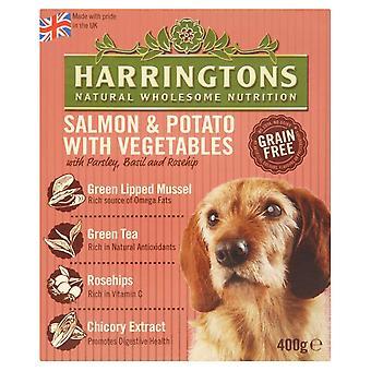 Harringtons våd laks & kartoffel 400g (Pack af 8)
