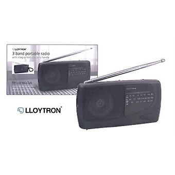 Lloytron 3-Band Portable Radio (N736)