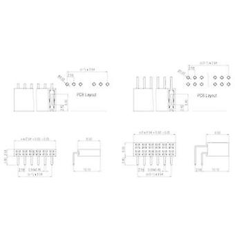 Receptacles (standard) No. of rows: 2 Pins per row: 8 W & P Products 159-16-2-00 1 pc(s)
