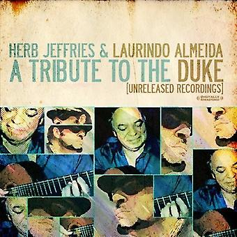 Herb Jeffries & Laurindo Almeida - Tribute to the Duke (Unreleased Recordings) [CD] USA import
