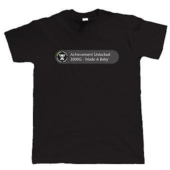Vectorbomb, достижение разблокирована сделал ребенок, Mens смешные футболки (S до 5XL)